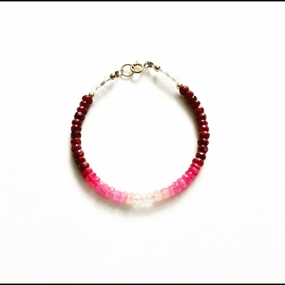 Jewelry - Ombré ruby bracelet